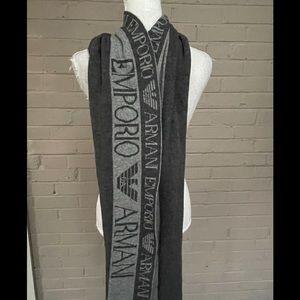 Emporio Armani  Cashmere blend Gray Scarf